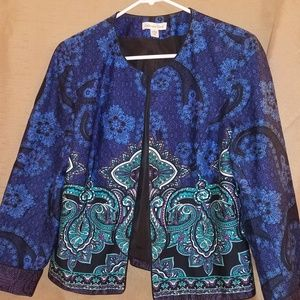 Coldwater Creek P14 paisley blue/turquoise jacket